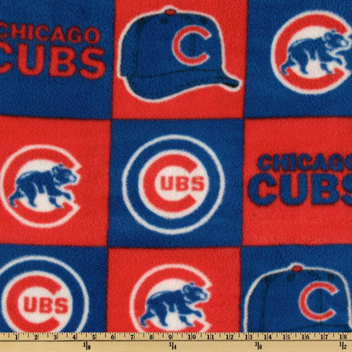 MLB Fleece Chicago Cubs Blocks Red/Royal