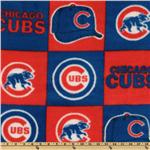 CW-801 MLB Fleece Chicago Cubs Blocks Red/Royal