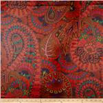Kaffe Fassett Laminated Cotton Belle Epoch Red