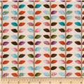 Woodland Critters Leaf Stripe Multi
