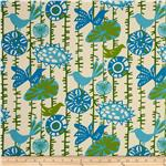Premier Prints Menagerie Grasshopper Blue/Natural