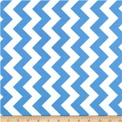 Riley Blake Laminate Medium Chevron Blue