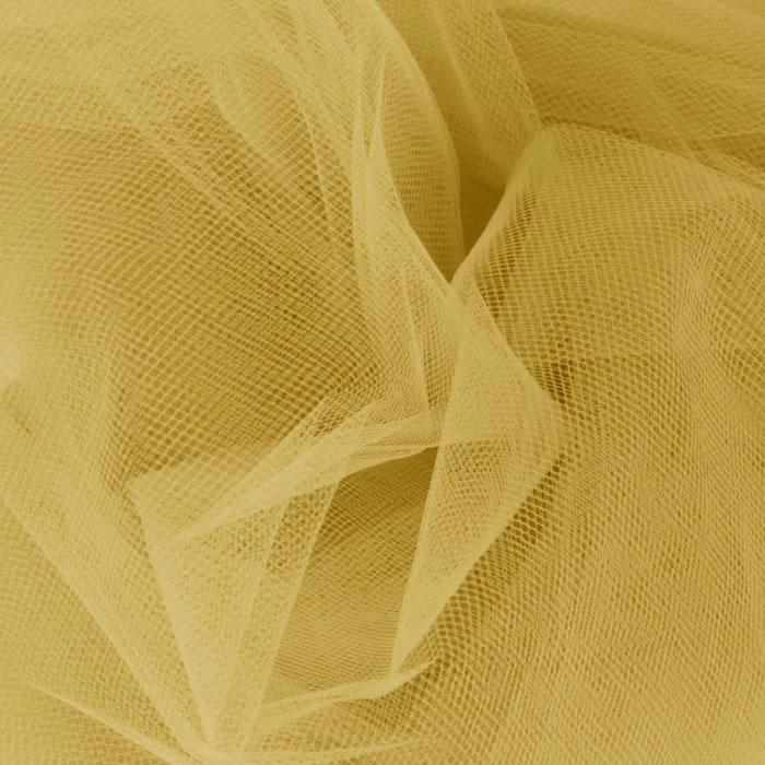 108'' Wide  Nylon Tulle Velium Gold