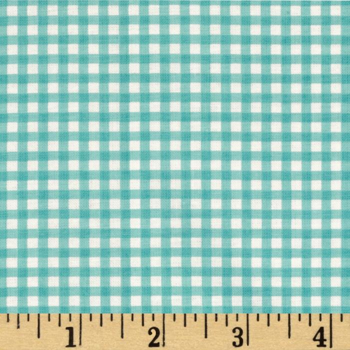 Riley Blake The Simple Life Simple Gingham Aqua