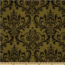 Premier Prints Traditions Olive/Chocolate
