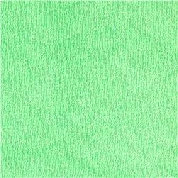 Stretch Cotton Blend Micro Terry Cloth Knit Light Green