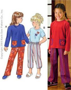 Kwik Sew Girls' Pants & Crew Neck Shirts Pattern