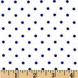 Moda Celebration Dots White/Royal