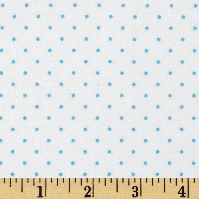 Tiny Dot White/Sky Blue