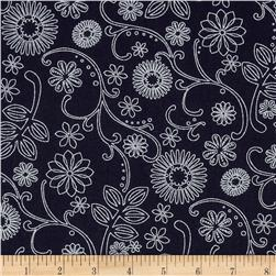 "110"" Wide Quilt Back Signature Black/White"
