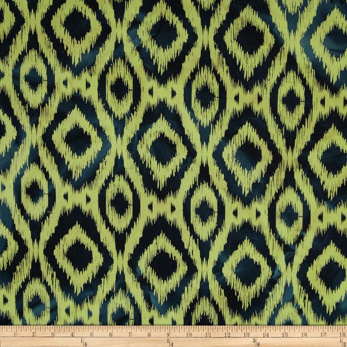 Indian Batik Ikat Green/Navy
