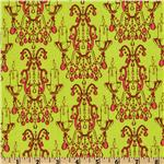 FO-936 Star Flakes And Glitter Candelabrum Green