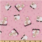 Comfy Flannel Sheep Pink