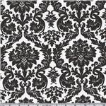BW-791 Flannel Backed Vinyl Acanthus Black & White
