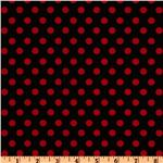 FC-748 Crazy for Dots &amp; Stripes Polka Dot Black/Red