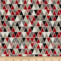 iHaus Organic Triangles Red/Grey