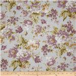223100 Pristine Large Floral Pewter Lilac