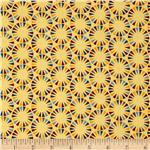 The Circus Pennant Circles Vintage Yellow