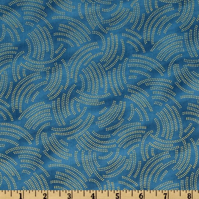 Legacy Small Spotty Curves Blue