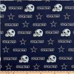 NFL Cotton Broadcloth Dallas Cowboys Blue