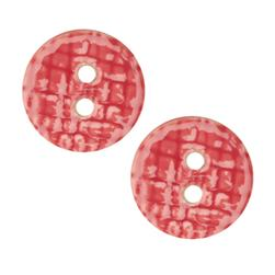Ceramic Button 1'' Grid Textures Pink