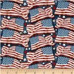 0292407 Star Spangled Bandana Freedom Flags Navy/Multi