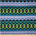 Viva Hatchi Sweater Knit Ikat Lime/Blue