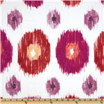 Dear Stella Cotton Sateen Circle Ikat Raspberry