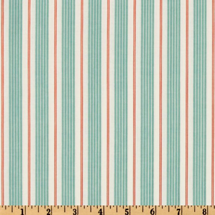Michael Miller Children at Play Racer Stripes Aqua