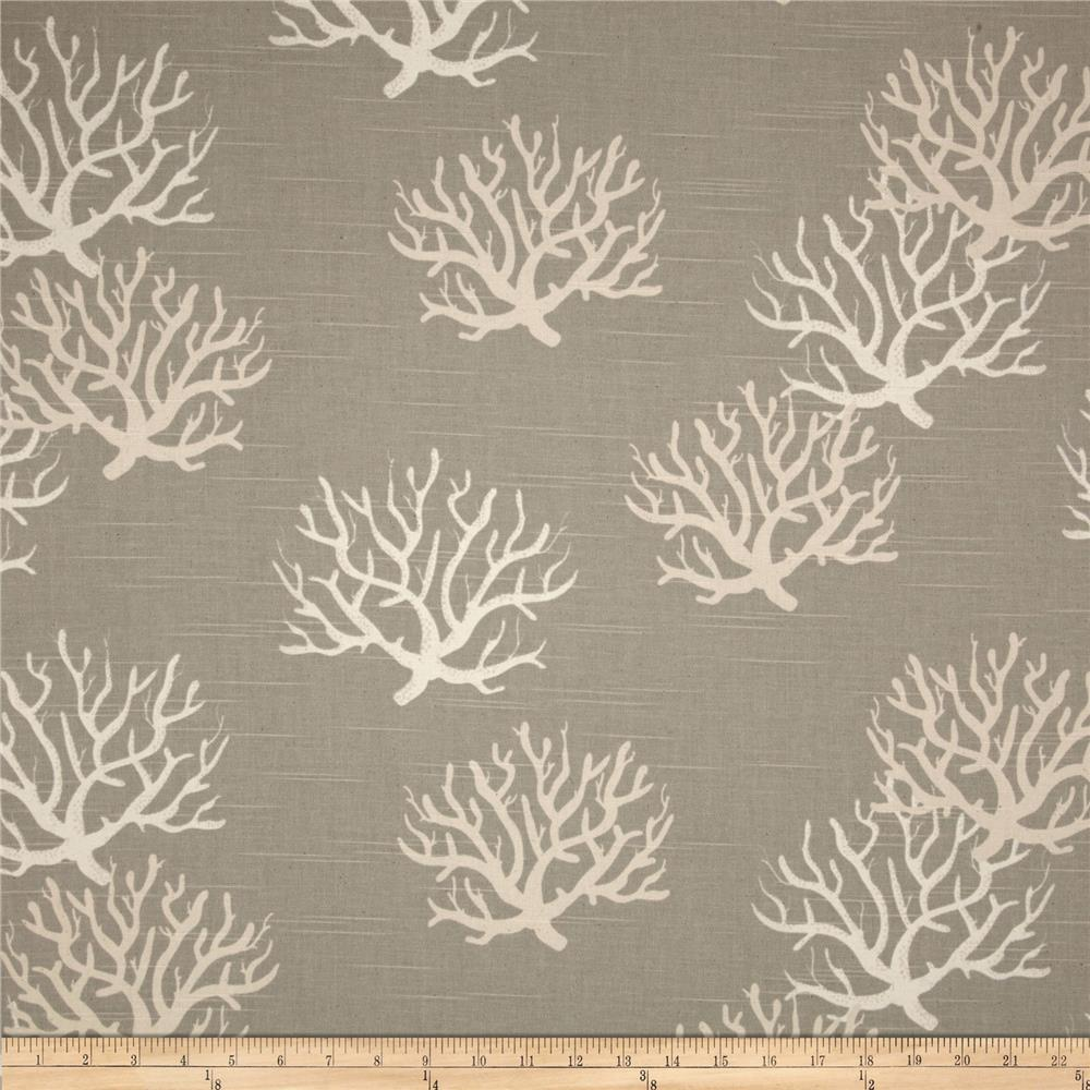Premier Prints Isadella Coral Slub Coastal Grey/Natural