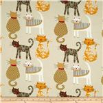 0268972 Meow Cats Tan