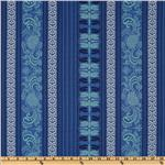 Michael Miller Grand Bazaar Mehndi Stripe Midnite