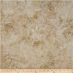 Artisan Batiks Color Source Pastel Large Leaves Cream