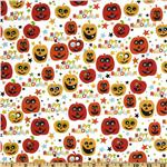 FN-991 Happy Halloween Pumpkins White