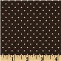 Jacquard Suiting Polka Dots Brown/Natural