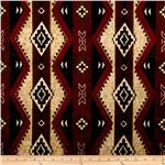 Minky Softie Cabin Aztec Wine