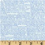 FL-144 Baby Business Newsprint Blue