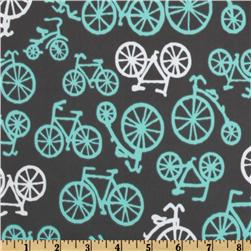 Michael Miller PUL (Polyurethane Laminate) Bicycles Grey