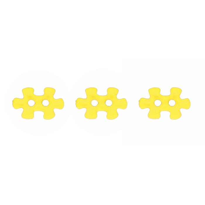 Novlety Button 5/8'' Puzzled Yellow
