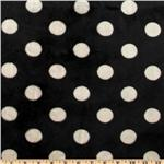 Minky Cuddle Jumbo Dot Black/White