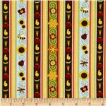 Garden Patch Ticking Stripe Multi