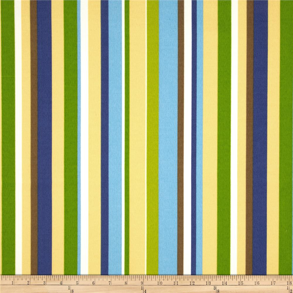 Waverly Sun N Shade Measure Up Stripe Copen Blue/Yellow