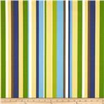 0282087 Waverly Sun N Shade Measure Up Stripe Copen Blue/Yellow