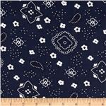 0268280 Bandana Prints Navy