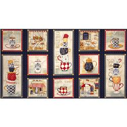 "Le Petit Bistro Hot Pad 24"" Panel Navy"