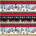 0263066 Frosty Friends Repeating Stripe Red