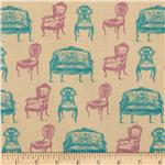 0286600 Victorian Vintage Chairs Tan