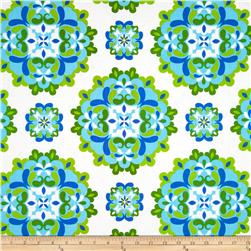 Kanvas Lilified Medley White/Turquoise