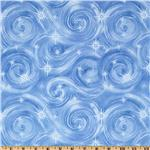 FG-291 Timeless Treasures Winter Wonderland Wind Blue