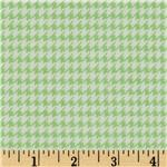 FT-566 Comfy Flannel Houndstooth Green